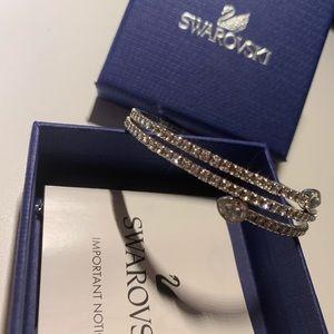 Swarovski twist bangle bracelet.